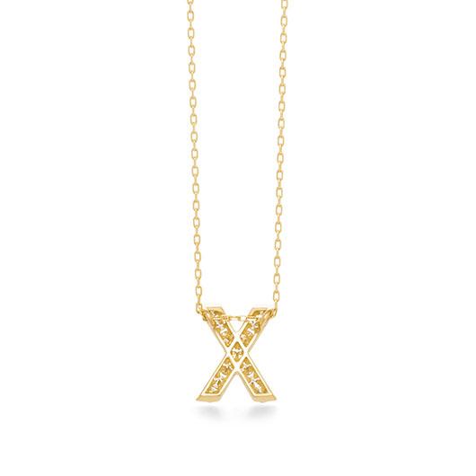 プルミエトワールイニシャル (X) ネックレス