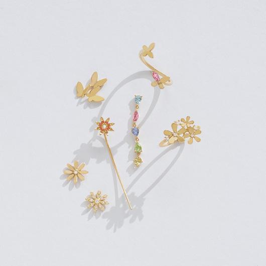 full bloom pavé 耳環