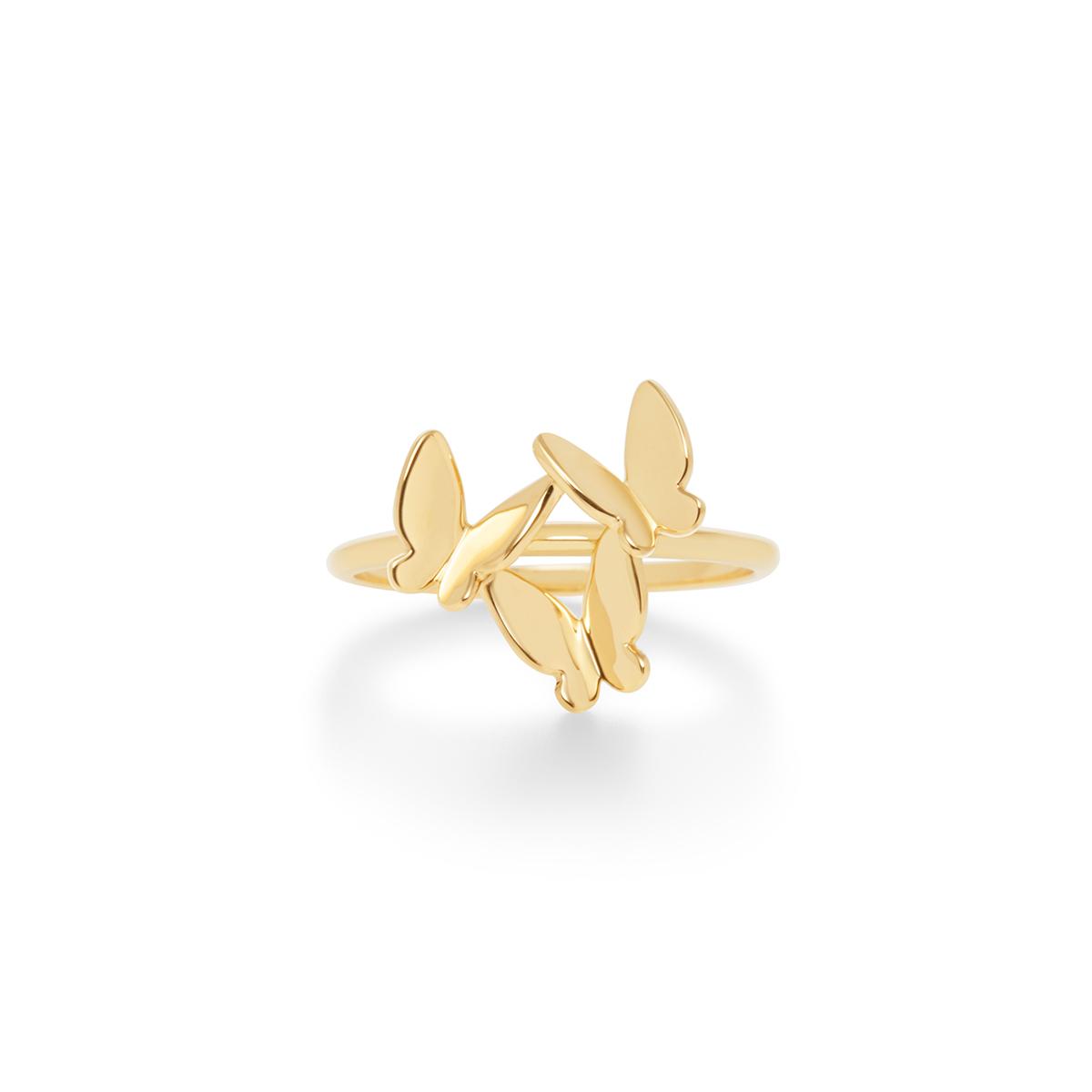 papillon brillant 戒指