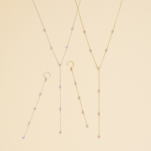 nudity cinq sapphire 耳環