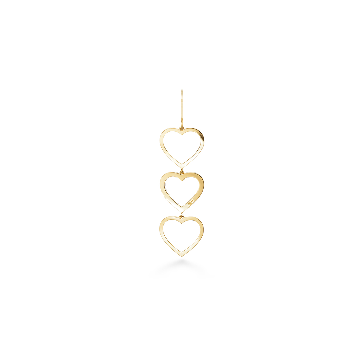 trois perle heart 耳環