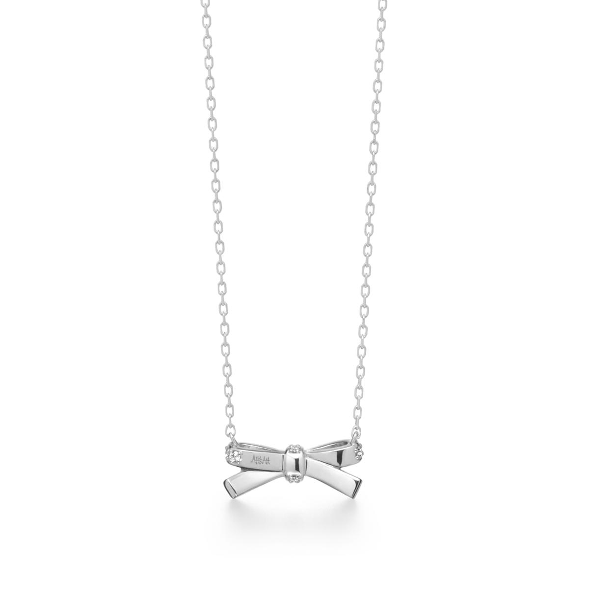 プチリュバンダイヤモンド ネックレス