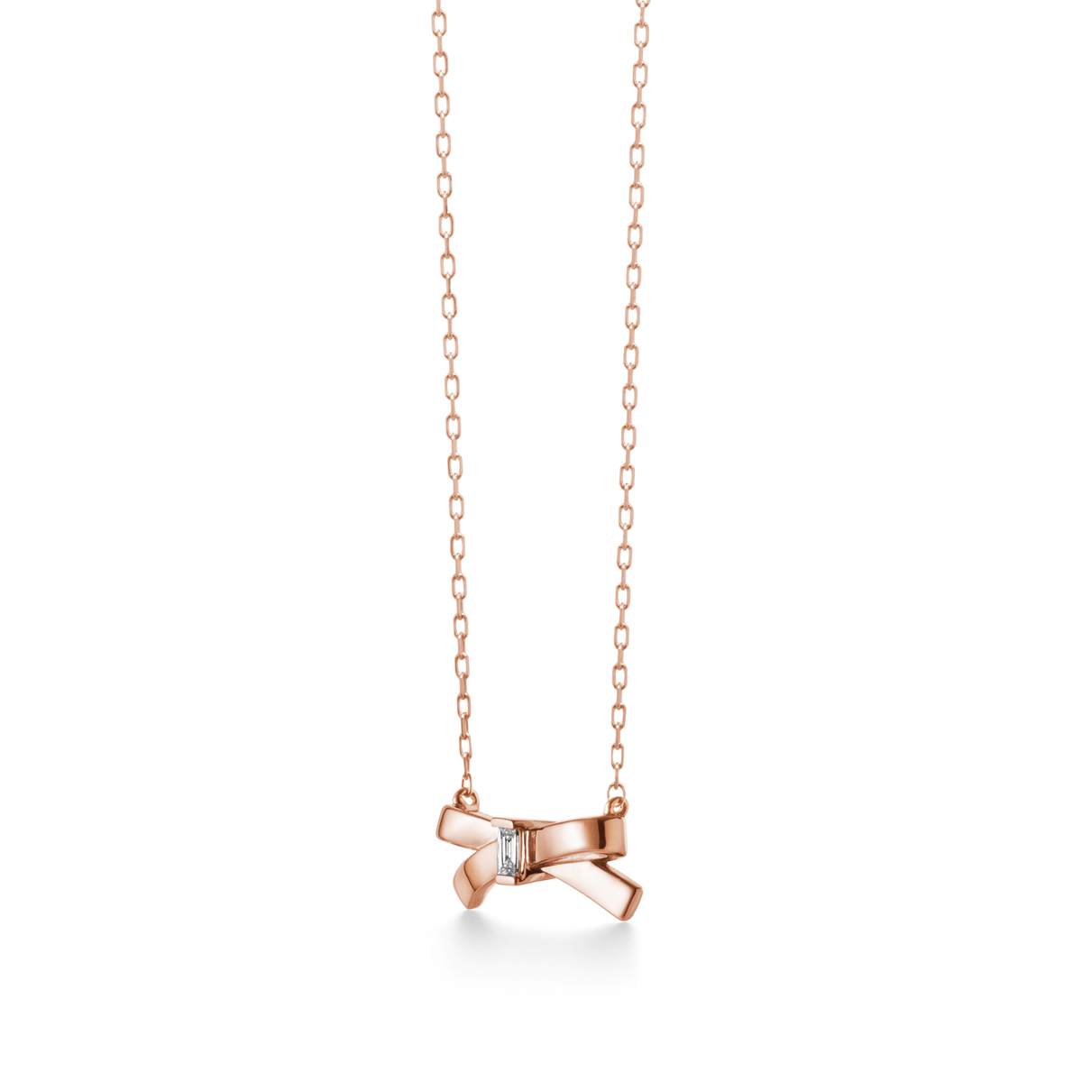 petit ruban rose 項鍊