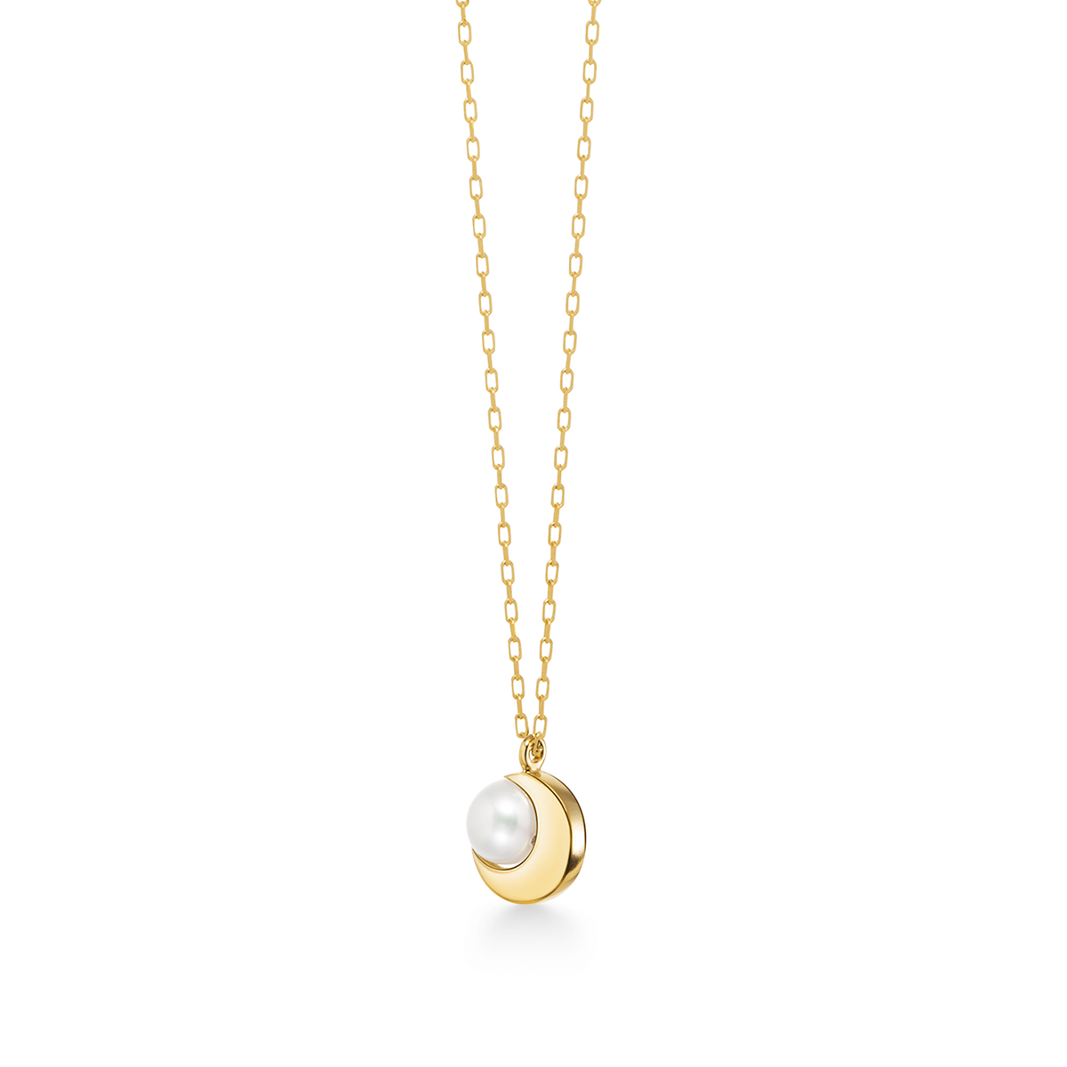 crescent pearl 項鍊