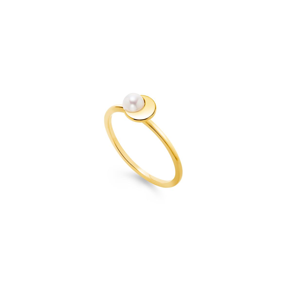 crescent pearl 戒指