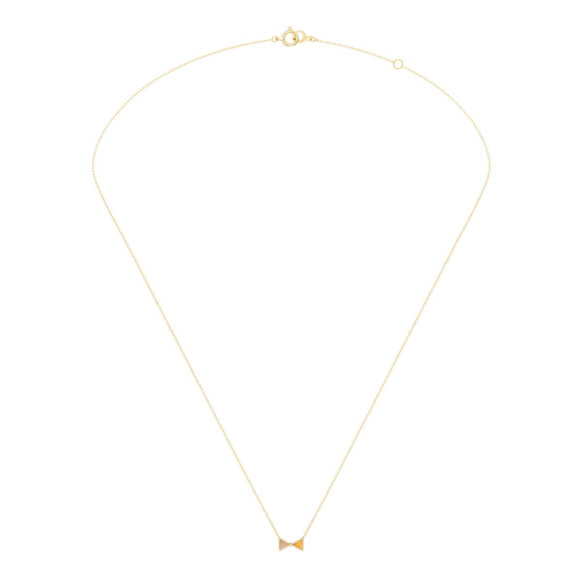 セブロンカラー(ピンク&オレンジ) ネックレス