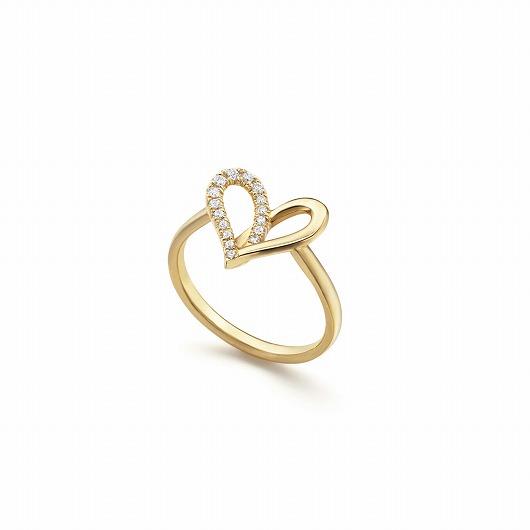 fil rouge heart midi 戒指 half diamonds